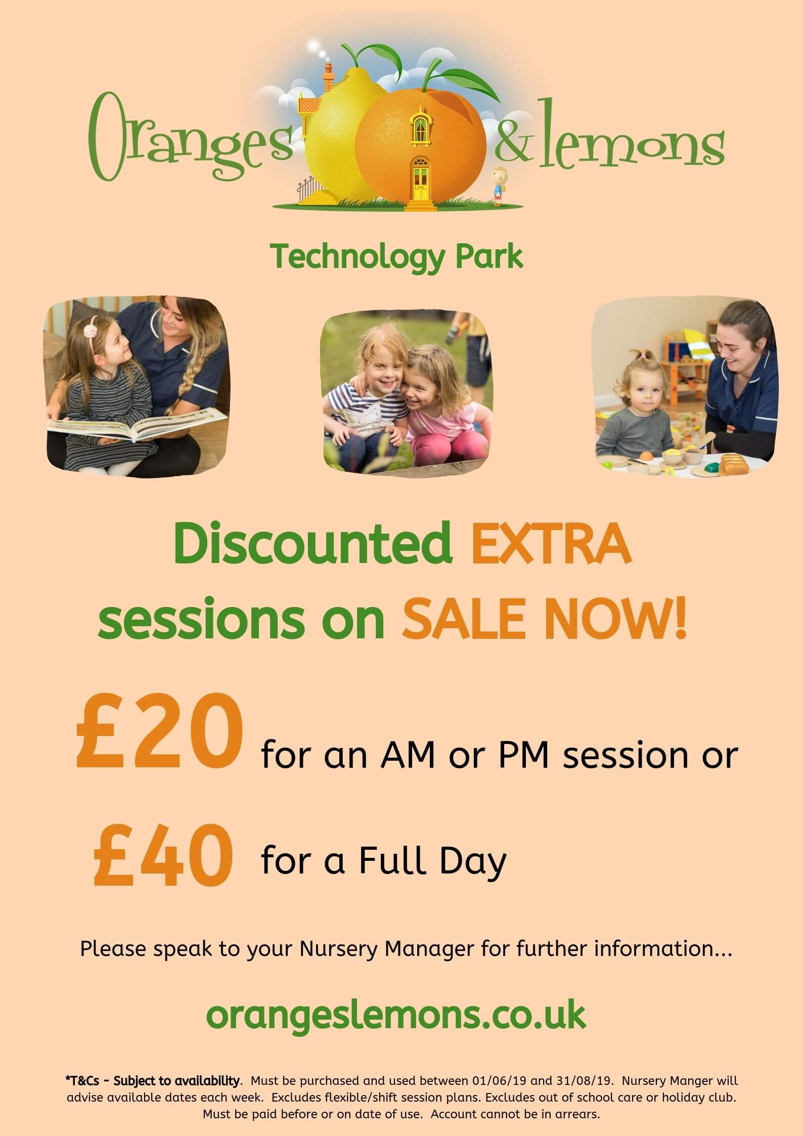 Discounted extra sessions Dundee nursery